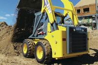 Skid loaders with diesel engines