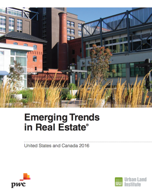 ULI Emerging Trends In Real Estate 2016