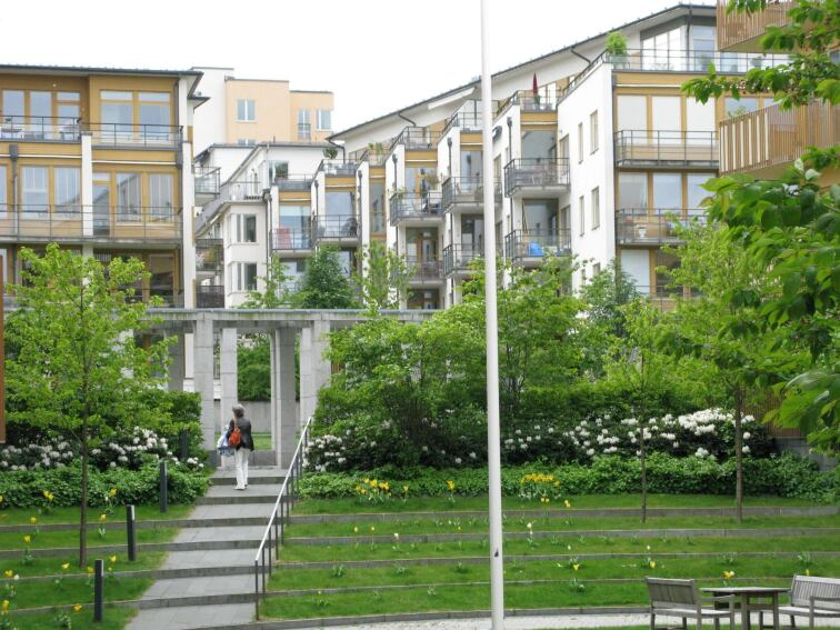 Landmarks: Hammarby Sjostad, Stockholm, Sweden