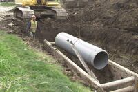 Cold-weather sewer correction