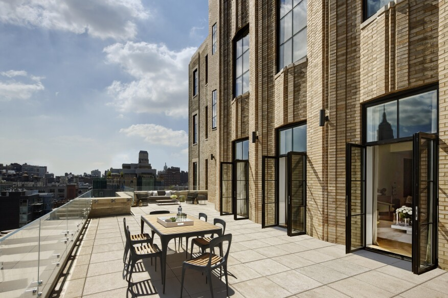 The architects equipped half of the building's units with generous terraces, made possible by the Walker's setbacks.
