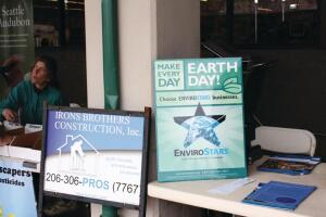 Irons Brothers Construction displayed an EnviroStars poster at its booth during an Earth Day event and promoted the program during a recent house tour. Company owner Joseph Irons uses the EnviroStars online directory to find participating businesses and encourages clients to do the same.