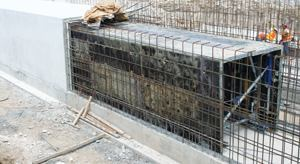 Portable forms roll easily from pour to pour, enabling the South Florida Water Management District to build cast-in-place concrete culverts more quickly. Photo: Doka USA Ltd.