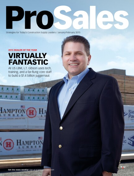US LBM Selected as ProSales Dealer of the Year for 2015