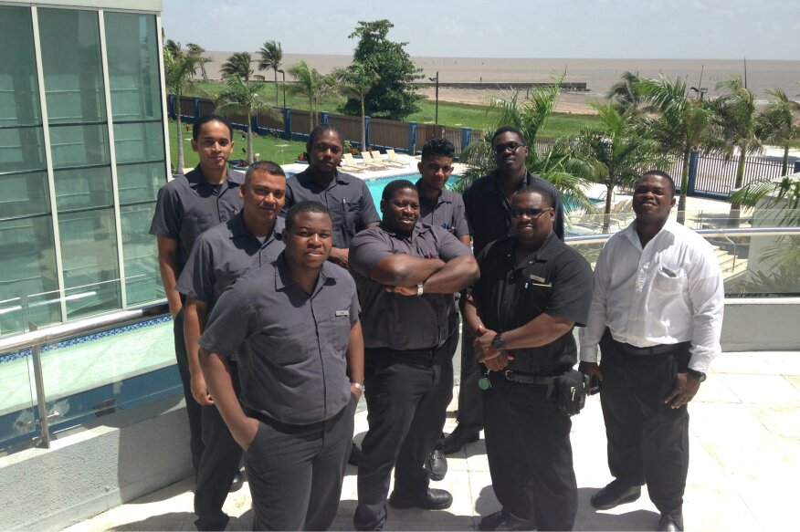 Maintenance workers at the Guyana Marriott Hotel Georgetown were the first in the South American country to become Certified Pool Operators.