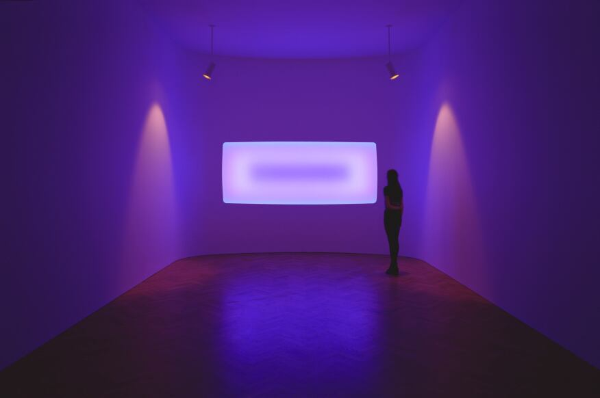 James Turrell, Pelee (2014), a Wide Glass installation