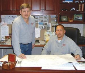 Duane (left) and Kevin Bontrager made Bontrager Concrete Specialties the Concrete Foundation Association's Contractor of the Year in 2004.