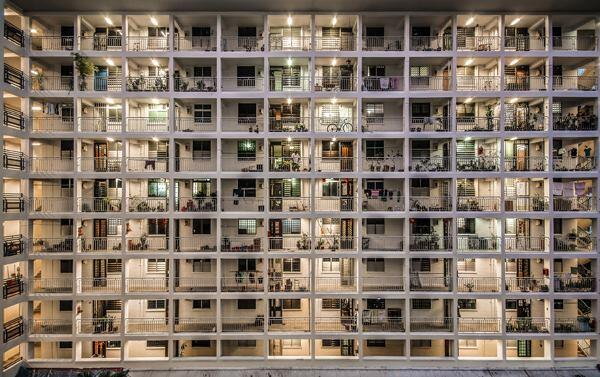 """Jalan Bukit Ho Swee."" Golden Mile Complex in Singapore. 2014 Sony World Photography Awards 3rd Place in Singapore National Award."