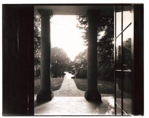 Robert C. Lautman took this photo of Monticello's northwest portico as early photographers would have--with a large-format camera and platinum paper.