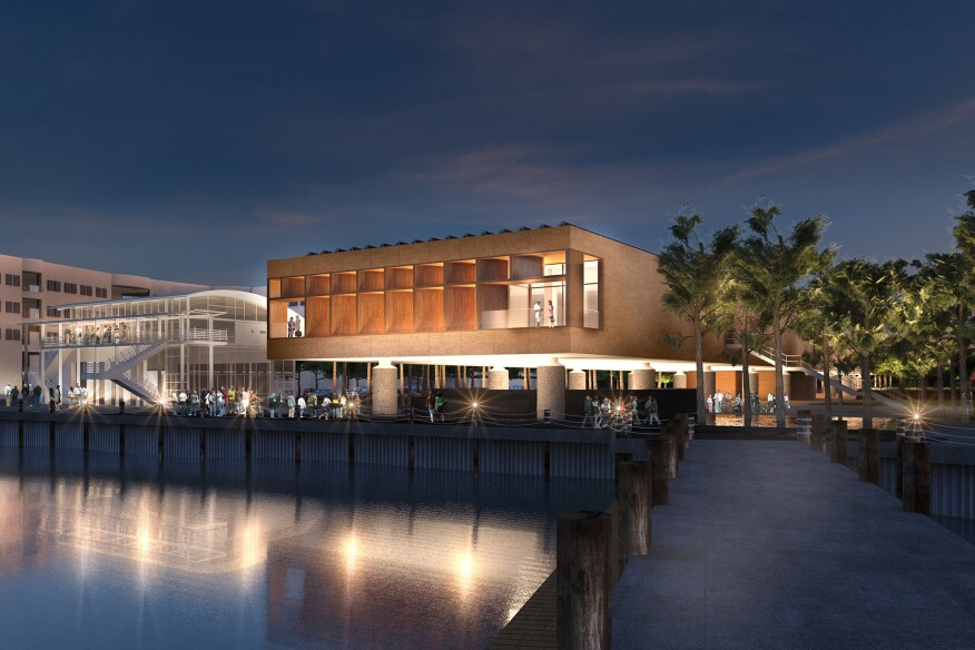 A rendering of the International African American Museum by Pei Cobb Freed & Partners and Moody Nolan, a Riley-backed project proposed for the Charleston waterfront