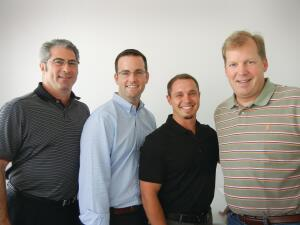 The Winning Team: Judging this year's Excellence Awards are (from left): Rick Davis, Building Leaders, Chicago; Ryan Mulkeen, Kuiken Brothers, Fair Lawn, N.J.; Andrew Cross, Truckee-Tahoe Lumber, Truckee, Calif.; and Chris Rader, Rader Solutions, Lafayette, La.