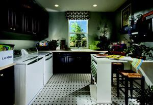 HOT WASH: Expanded utility zones with extra storage, counter space, and hobby tables  are in demand.