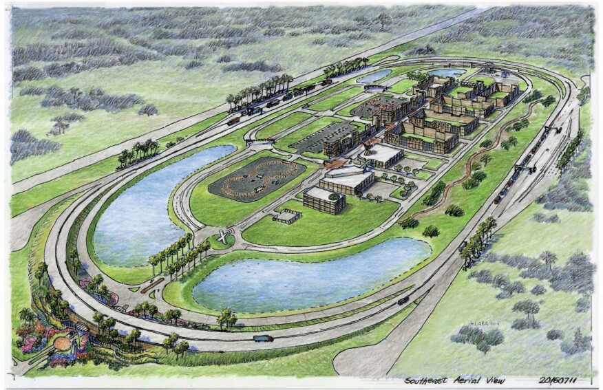 The 400-acre SunTrax closed-track test site will feature a high-tech automated vehicle/ connected vehicle research center embedded in an oval roadway track.