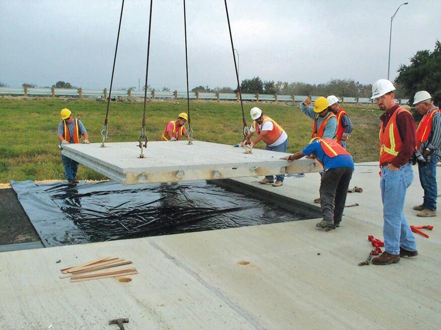 Precast Concrete Construction : Precast concrete pavement construction magazine