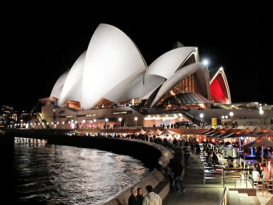The Sydney Opera House attracts more than 8 million visitors annually, according to its official website. In accordance with Jørn Utzon's design proposal, the Opera House's west elevation was recently opened up to include bay windows and deep niches.
