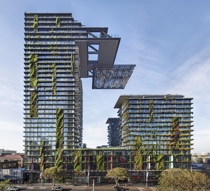 One Central Park is part of a $1.76 billion plan for a sustainable community in downtown Sydney, Australia. Image courtesy of Frasers Property Australia and Sekisui House Australia