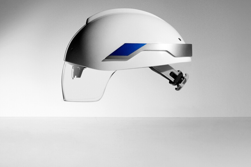 The Daqri Smart Helmet System packs computing and graphics processing power into a wearable computer and links with Autodesk 360 Field to allow users to receive 4D work instructions on the factory floor, in real-time.
