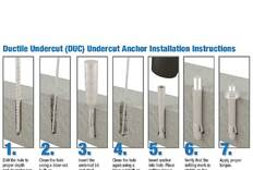 DUC Undercut Anchors Installation Guide
