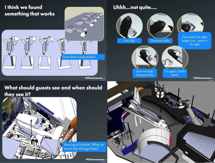 PGAV Destinations optimized the orientation of the space shuttle Atlantis in the Kennedy Space Center to maximize audience views.