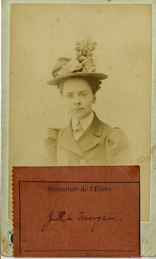 Julia Morgan's Beaux-Arts student ID, 1899.