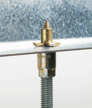 HangerMate threaded rod anchoring system    Elcowww.elcoconstruction.com  Can replace beam clamps, powder-actuated stud pins, eye sockets, or ceiling flanges    Eliminates prepunching or drilling of steel components    Only one driver needed for all anchor sizes, based on drive tool and material being fastened    Two head styles available    Wide array of thread and point styles for use in steel, concrete, masonry, or wood applications