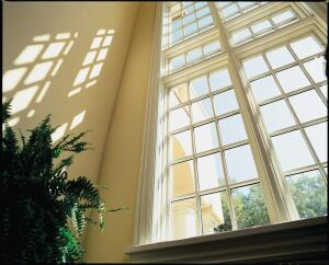 Hurd. An online glossary and comparative chart of various insulating glass options supplements printed materials that illustrate and explain the best use of each option for residential projects. The company also offers continuing education courses through  www.aecdaily.com/en/2and in person via its Architectural Services Group. Pictured: Fixed windows with ComfortGlaze glass and divided-light grilles. 800.223.4873.  www.hurd.com.
