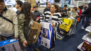 Consumer spending's holding up as household incomes remain steady and jobs grow.