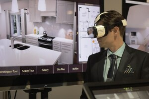 A demo of Invent Dev's new mobile VR tool at the International Builders' Show