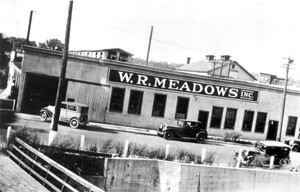 The W. R. MEADOWS story began in 1926, occupying space at 2 Kimball Street in downtown Elgin, Illinois.