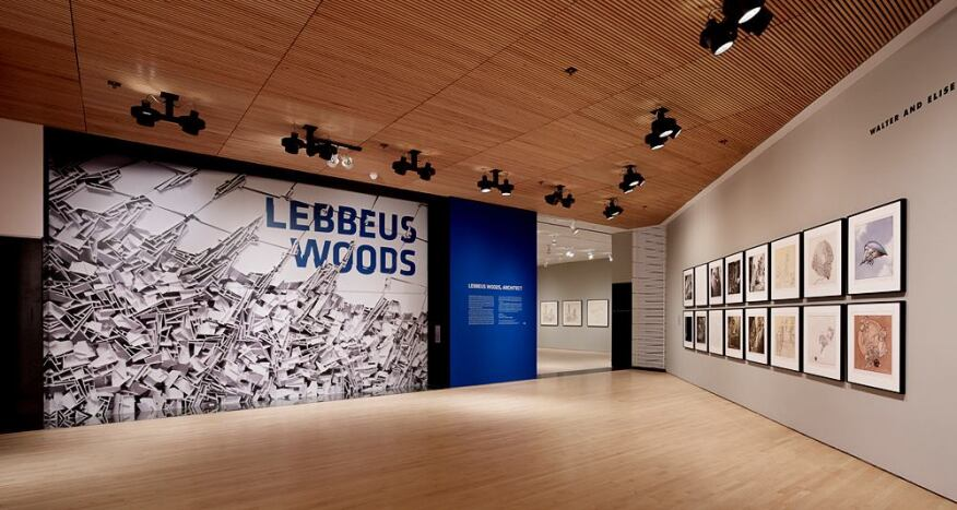 Installation view of 'Lebbeus Woods, Architect,' San Francisco Museum of Modern Art, February 16–June 2, 2013; organized by the San Francisco Museum of Modern Art.