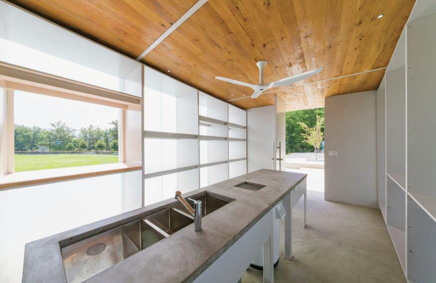 Concessions pavilion, interior