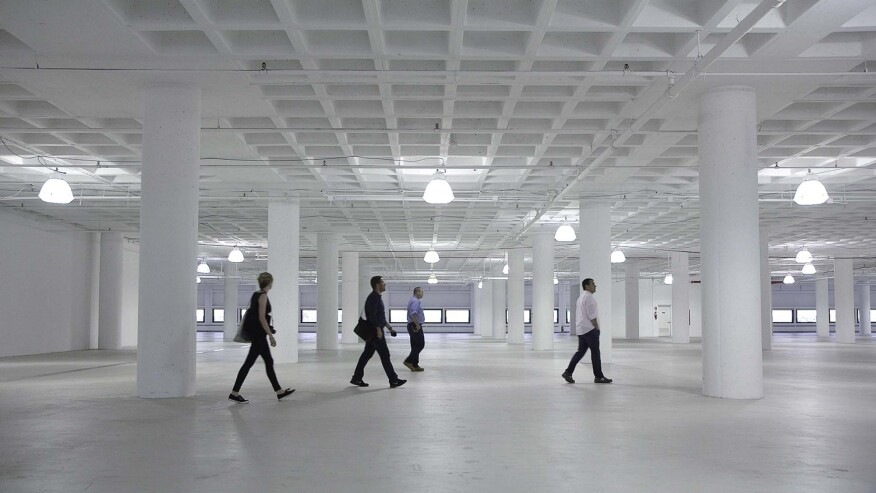 R/GA employees scoping out the space for their future workplace.