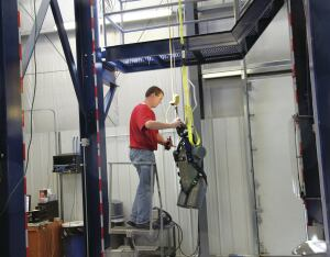 Capital Safety is the first manufacturer of fall protection equipment to have an on-site accredited lab. It's had the accreditation for a few years now and is regularly audited by a third party accreditation group to keep the lab current.