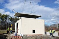 Precast concrete buildings
