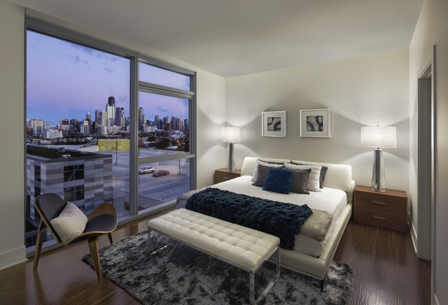 Units range from 590-square-foot studios for $1,770 a month to 1,315-square-foot two-bedrooms at $3,984.