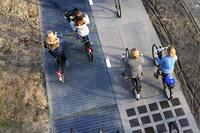 A Solar-Paneled Bicycle Path
