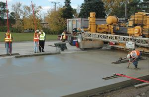 The high cost of petroleum has made asphalt expensive, so this is a terrific  time for concrete paving to capture some of the asphalt market.