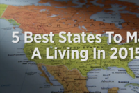 5 Best States to Make a Living in 2015--Video