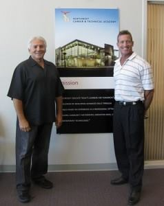 At the academy: Joseph M. Vassallo (left) with David Philippi, director of NWCTA.