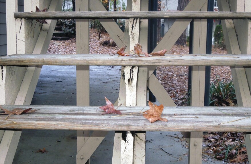 Stairs that are higher than 30 inches off the ground are subject to the same guidelines as railings, so avoid open risers that permit passage of a 4-inch-diameter sphere.