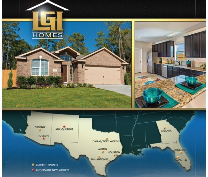 LGI takes to the road in a play for a share of home building's bigtime prize: capital -- UPDATE