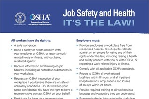 OSHA Unveils New 'It's The Law' Poster