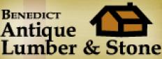 Benedict Antique Lumber & Stone Logo