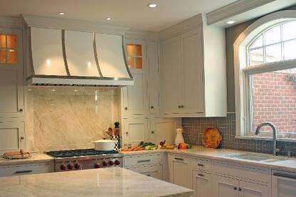 Open Concept White Kitchen