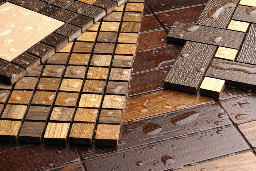 In & H2O Eco Wood Mosaics Tiles
