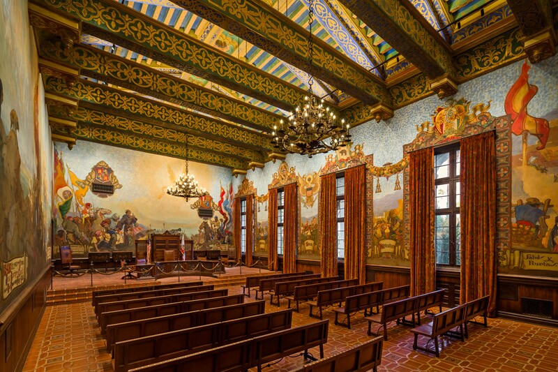 2017 lumen west awards architectural lighting magazine for Mural room santa barbara courthouse