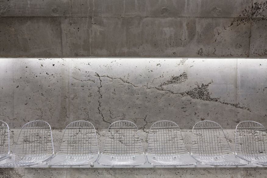 Seating and concrete detail