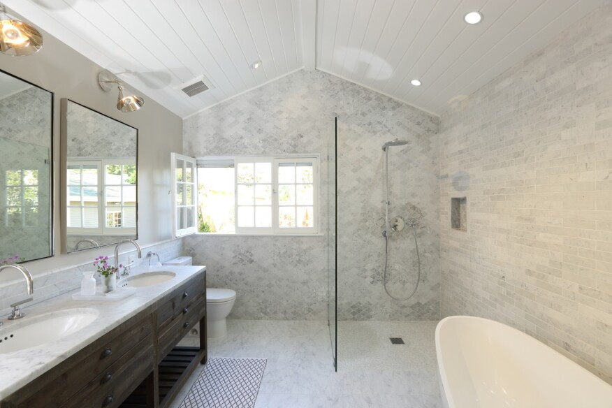 Elegant Bath Remodel Restores Home S Cohesive Aesthetic Remodeling Design Bath Residential Projects 2015 Remodeling Design Awards