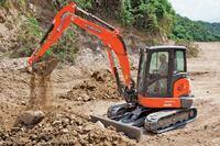 Kubota's Conventional Tail-Swing Excavator