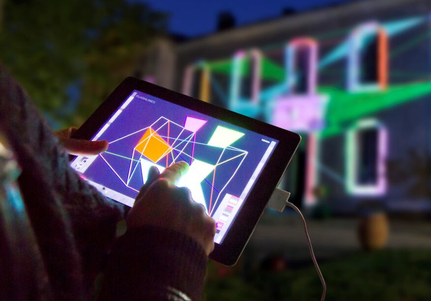 tiptopexpress: projections and light installations at the site of the future Romance Museums